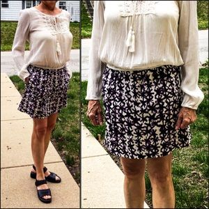 J. Crew Purple Print Skirt! NEW!